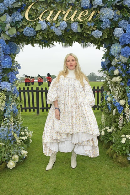 EGHAM, ENGLAND - JUNE 27:  Ellie Goulding attends the Cartier Queen's Cup Polo 2021 at Guards Polo Club on June 27, 2021 in Egham, England.  (Photo by David M. Benett/Dave Benett/Getty Images)