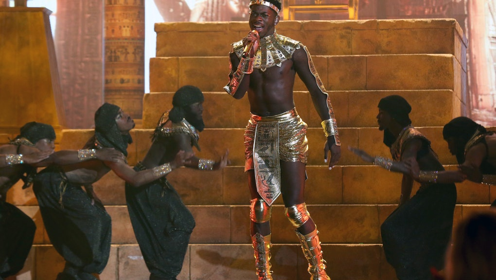 LOS ANGELES, CALIFORNIA - JUNE 27: Lil Nas X performs onstage at the BET Awards 2021 at Microsoft Th...