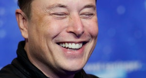 BERLIN, GERMANY DECEMBER 01:  SpaceX owner and Tesla CEO Elon Musk poses on the red carpet of the Axel Springer Award 2020 on December 01, 2020 in Berlin, Germany.  (Photo by Hannibal Hanschke-Pool/Getty Images)
