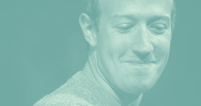 NEW YORK, NY - OCTOBER 25: Facebook CEO Mark Zuckerberg speaks about the new Facebook News feature a...