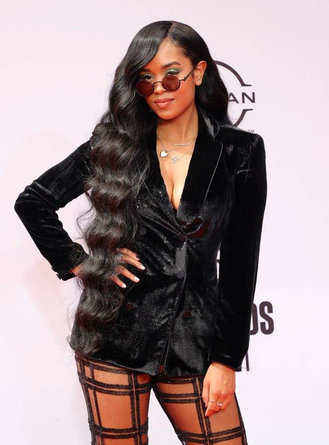 LOS ANGELES, CALIFORNIA - JUNE 27: H.E.R. attends the BET Awards 2021 at Microsoft Theater on June 2...