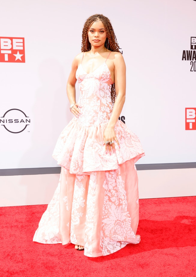 LOS ANGELES, CALIFORNIA - JUNE 27: Andra Day attends the BET Awards 2021 at Microsoft Theater on Jun...
