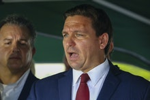 SURFSIDE, FLORIDA, USA - JUNE 24: Florida Governor Ron DeSantis speaks during a press conference aft...