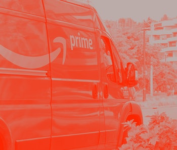 SEATTLE, UNITED STATES - 2021/04/27: An Amazon Prime delivery van is seen in Seattle. The ecommerce ...