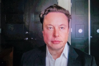 BARCELONA, SPAIN - JUNE 29: Tesla CEO Elon Musk gives a keynote speech via video conference at the M...