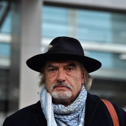DUBLIN, IRELAND - OCTOBER 13: Ian Bailey pictured as he exits the Criminal Courts of Justice following the ruling that he will not be extradited regarding the murder of Sophie Toscan du Plantier on October 13, 2020 in Dublin, Ireland. Ian Bailey was convicted in France, in his absence, of the murder of French television producer Sophie Toscan du Plantier in west Cork in 1996. Mr Bailey, 63, has always denied the murder. High Court judge Mr Justice Paul Burns today rejected the States application for the extradition of Bailey. (Photo by Charles McQuillan/Getty Images)