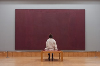 (EDITOR'S NOTE: Editorial Use Only)Gallery staff member looks at Mark Rothko's (1903-1970) The Seagr...