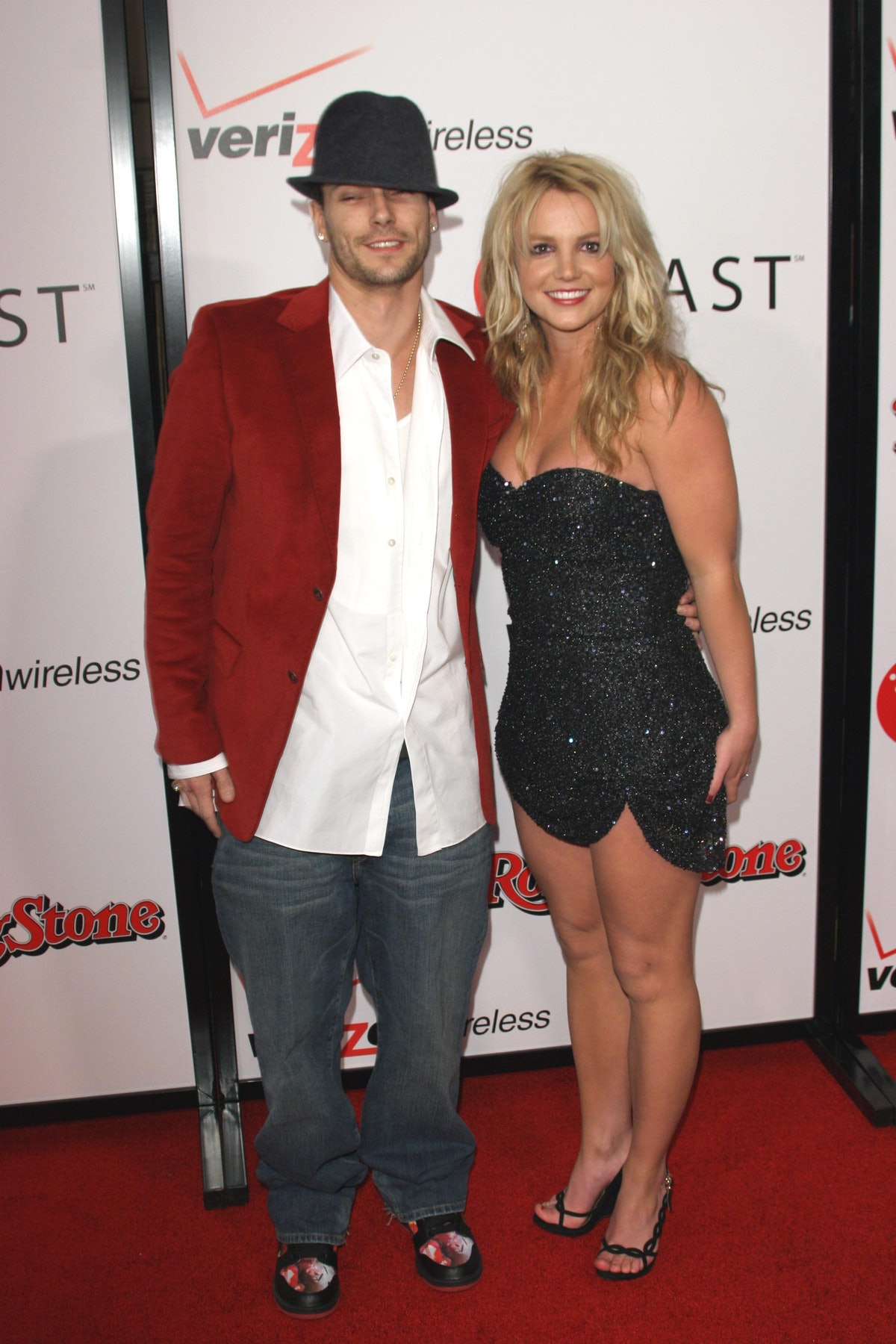 HOLLYWOOD, CA - JANUARY 13: Kevin Federline and Britney Spears attends Rolling Stone/Verizon Wireles...