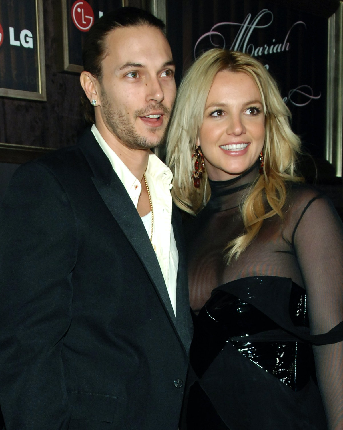 Kevin Federline and Britney Spears during Mariah Carey and Jermaine Dupri Host GRAMMY After Party Sp...