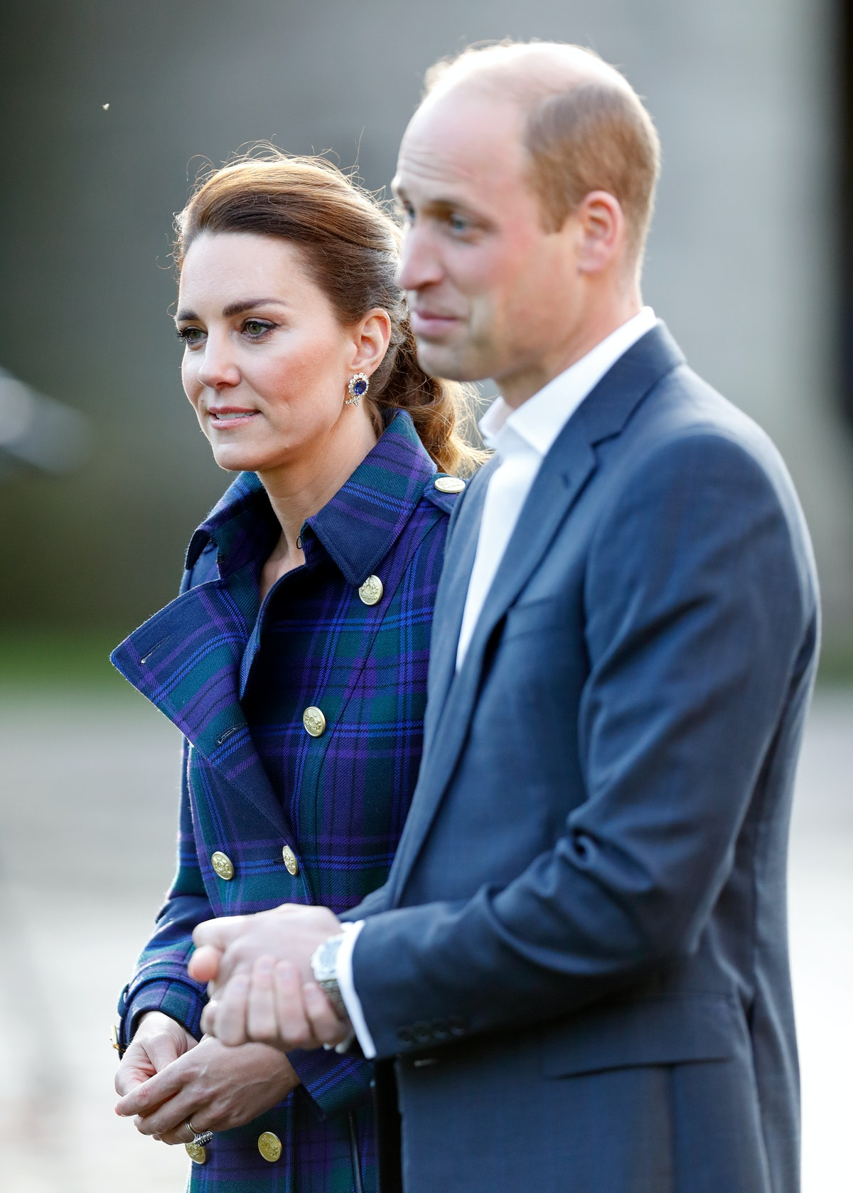 The Duke and Duchess of Cambridge, shown here attending a royal event, will not appear together at Princess Diana's statue unveiling.