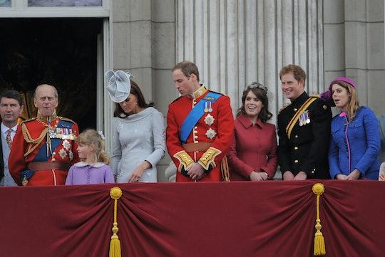 LONDON, ENGLAND - JUNE 16: Prince Philip, Duke Of Edinburgh, Prince Harry, Duke of Sussex Princess E...