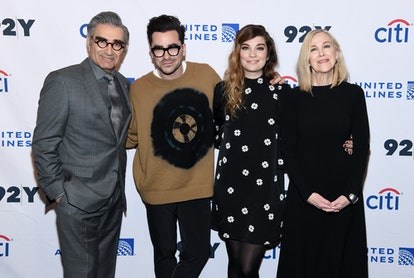 Eugene Levy, Dan Levy, Annie Murphy, and Catherine O'Hara in 2020.