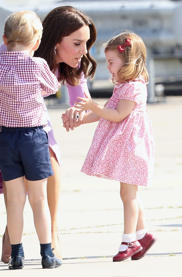 Princess Charlotte was not impressed in Germany.