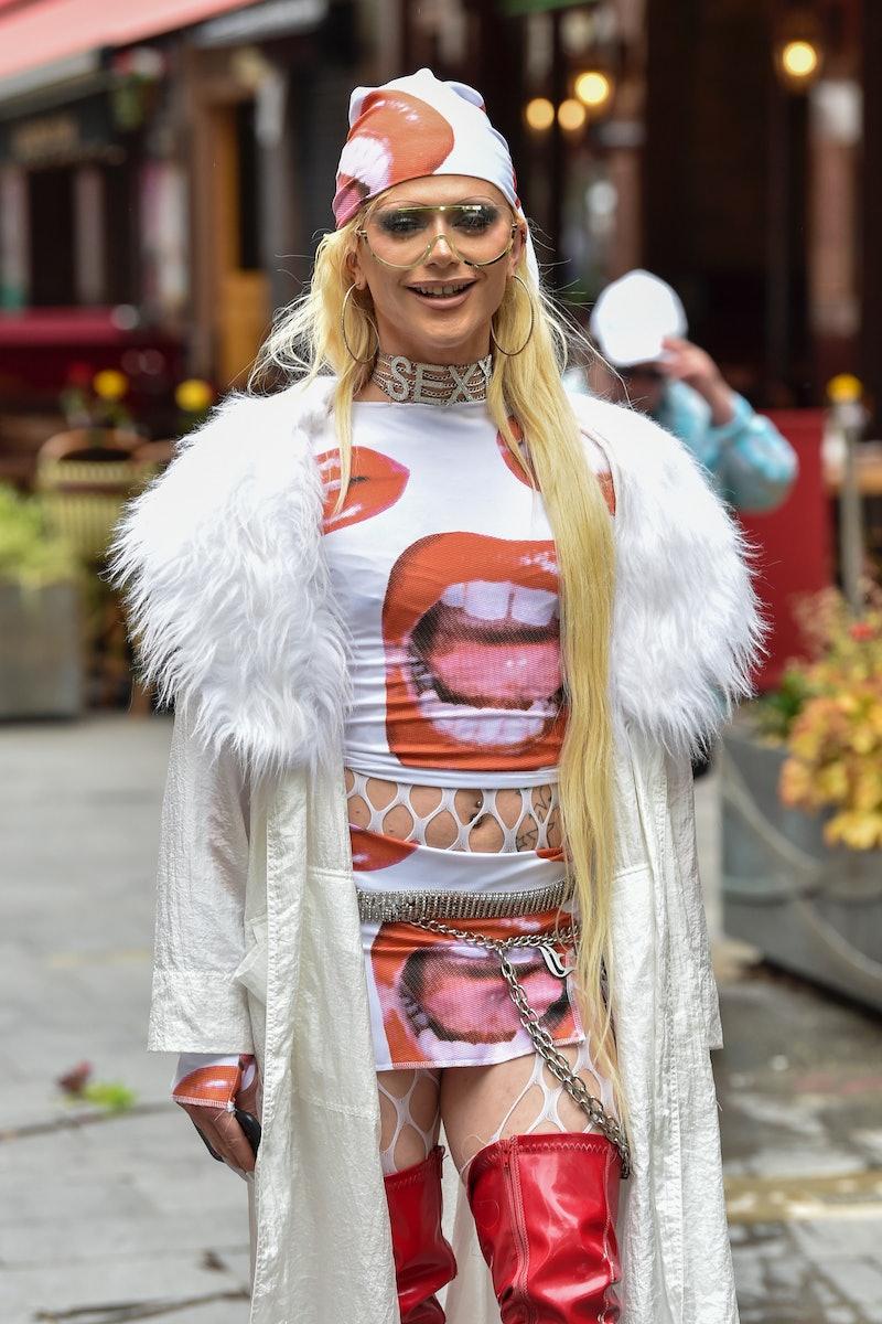 LONDON, ENGLAND - JUNE 04: British Drag Queen Bimini Bon Boulash seen outside the Global Radio studi...