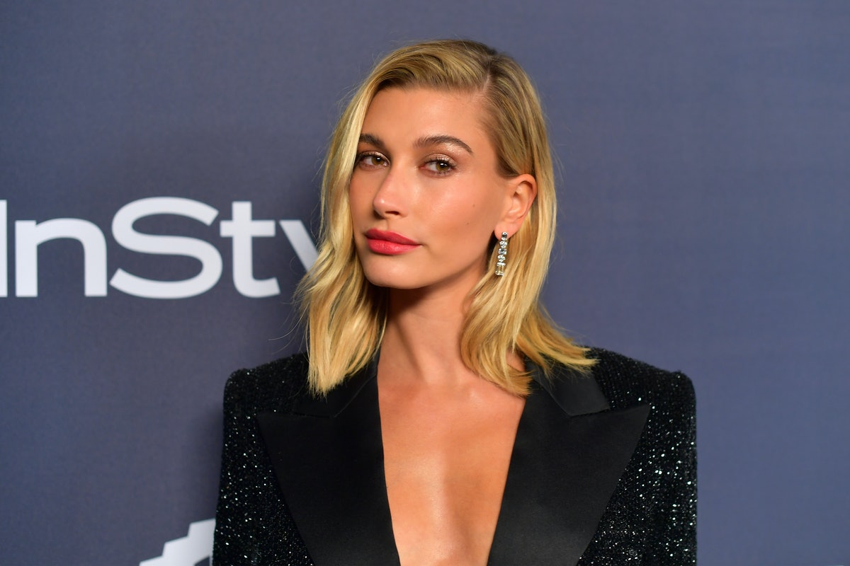 Hailey Bieber attends The 2020 InStyle And Warner Bros. 77th Annual Golden Globe Awards Post-Party in Beverly Hills, California.