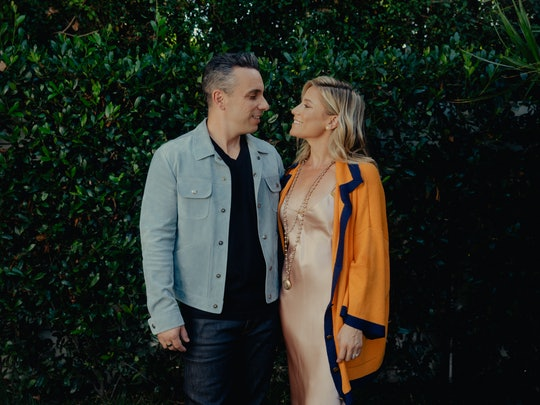 LOS ANGELES, CA - SEPTEMBER 20: Actor and comedian Sebastian Maniscalco and wife Lana Gomez photographed at home in Los Angeles, California on September 20, 2019. (Photo by Rozette Rago for The Washington Post via Getty Images)