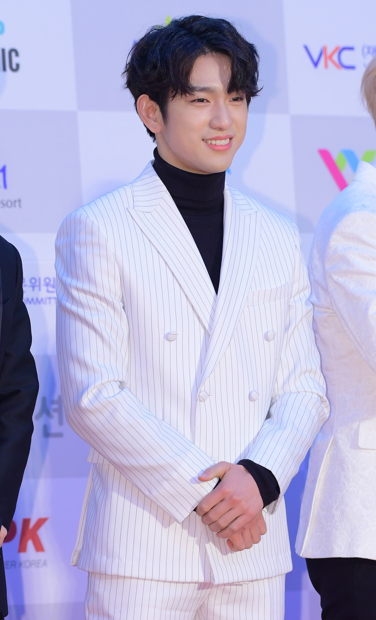 SEOUL, SOUTH KOREA - JANUARY 19: Jinyoung of GOT7 attends 26th High1 Seoul Music Awards at Jamsil Arena on January 19, 2017 in Seoul, South Korea. (Photo by The Chosunilbo JNS/Imazins via Getty Images)