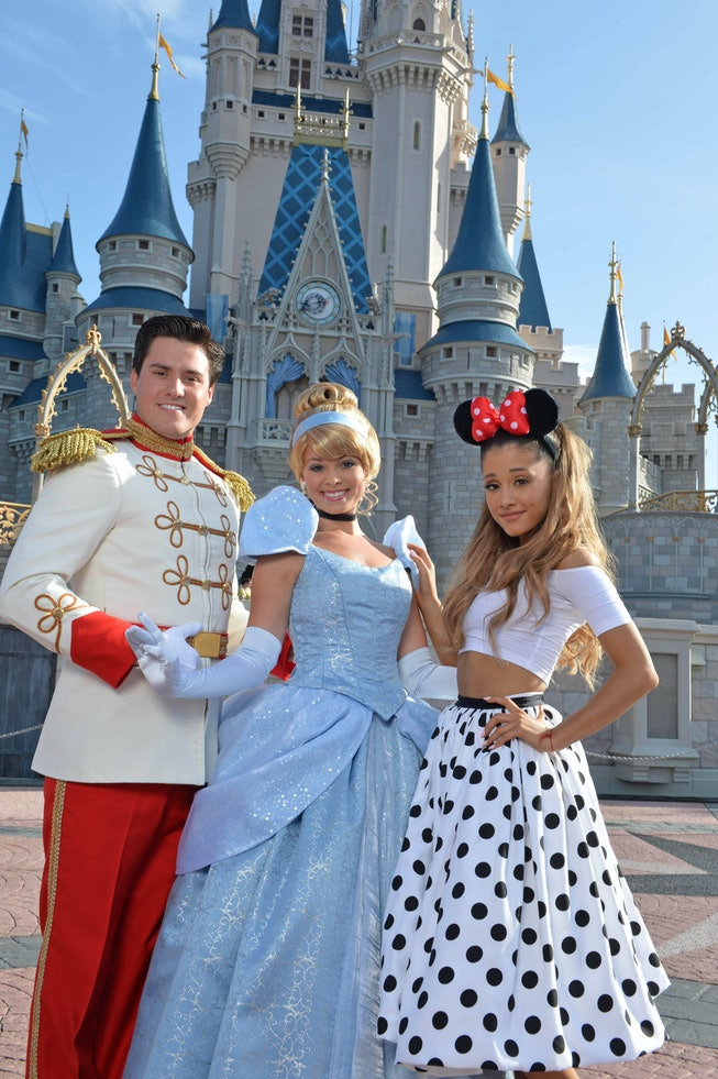 Ariana Grande at Disney World for her 21st birthday in 2014.