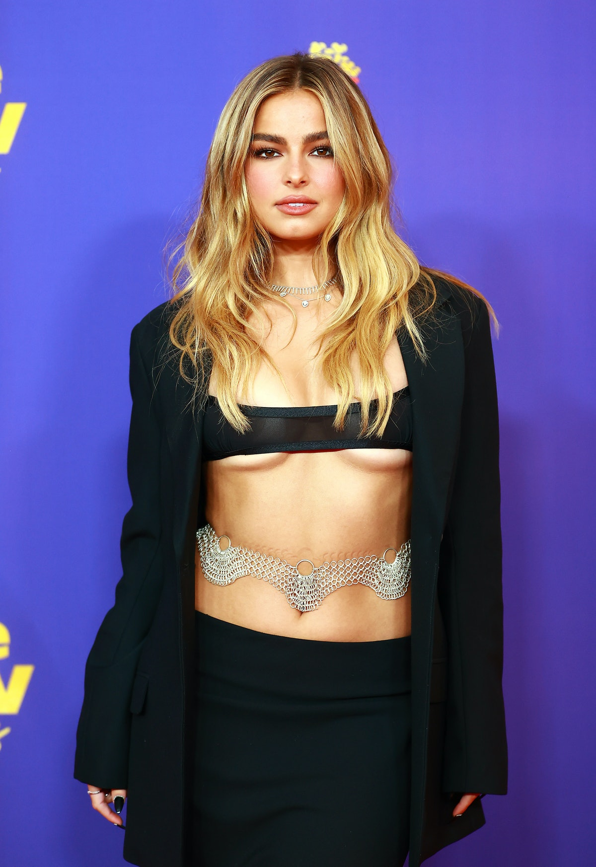 LOS ANGELES, CALIFORNIA - MAY 16: Addison Rae attends the 2021 MTV Movie & TV Awards at the Hollywood Palladium on May 16, 2021 in Los Angeles, California. (Photo by Matt Winkelmeyer/2021 MTV Movie and TV Awards/Getty Images for MTV/ViacomCBS)