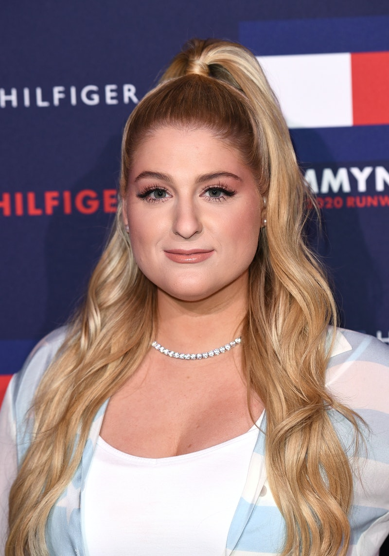 LONDON, ENGLAND - FEBRUARY 16: Meghan Trainor attends the TommyNow show during London Fashion Week February 2020 at the Tate Modern on February 16, 2020 in London, England. (Photo by Jeff Spicer/BFC/Getty Images for BFC)