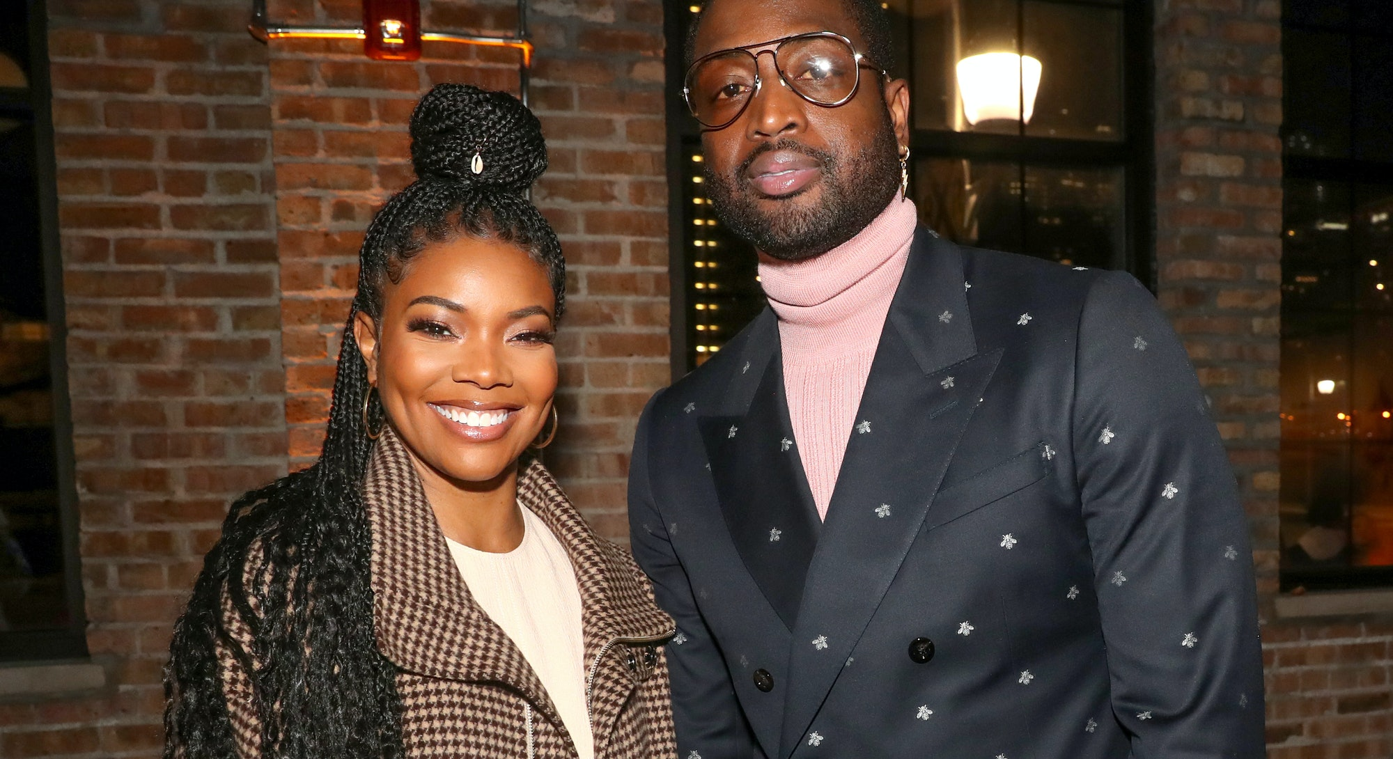 CHICAGO, ILLINOIS - FEBRUARY 15: Gabrielle Union and Dwyane Wade attend Stance Spades At NBA All-Sta...