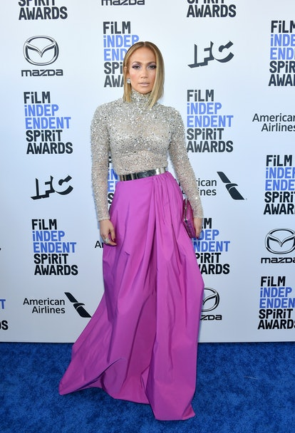 SANTA MONICA, CALIFORNIA - FEBRUARY 08: Jennifer Lopez attends the 2020 Film Independent Spirit Awards on February 08, 2020 in Santa Monica, California. (Photo by Amy Sussman/Getty Images)