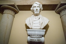 Sculpture of Roger B. Taney inside the U.S. Capitol in Washington DC. (Photo by: VW Pics/Universal I...
