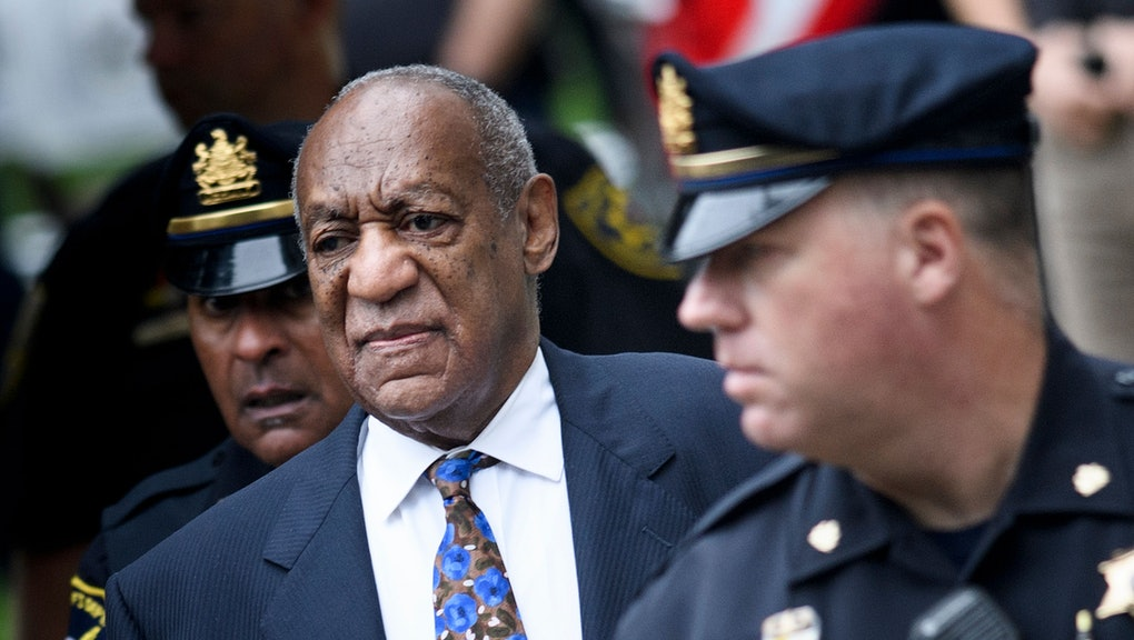TOPSHOT - US actor Bill Cosby arrives at court on September 24, 2018 in Norristown, Pennsylvania to ...