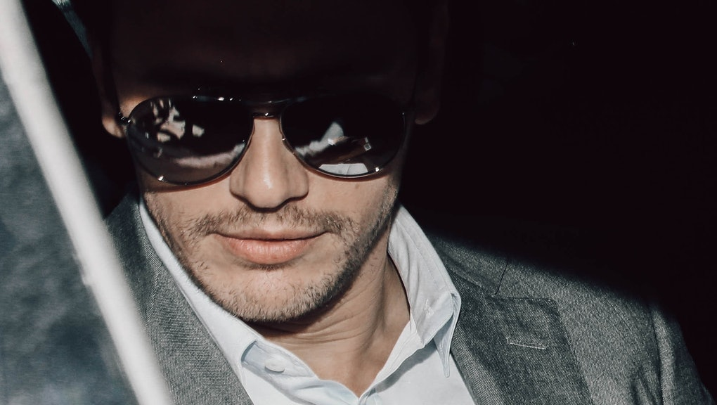 American actor, writer and director James Franco guest at the Gucci men's show. Milan (Italy), June ...