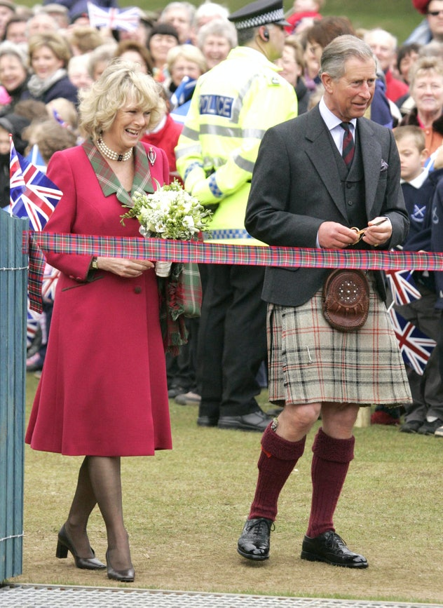The Prince Of Wales & The Duchess Of Cornwall Open The New Play-Park At Monaltrie Park In Ballater, ...
