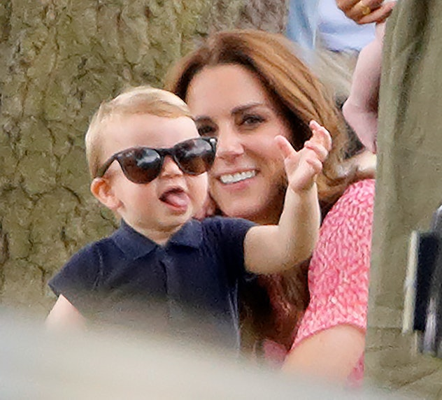 Kate Middleton and Prince Louis laugh at a polo match.