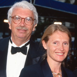 Daniel Toscan du Plantier and Sophie Toscan du Plantier attend «Breaking the Waves» Premiere during the 49th Annual Cannes Film Festival on May 13, 1996 in Cannes, France. (Photo by Stephane Cardinale/Sygma via Getty Images)
