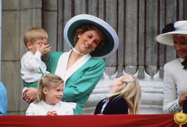 Princess Diana laughing at the Trooping of the Colour in 1988.