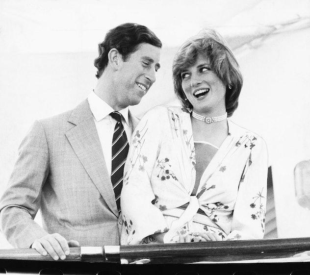 Prince Charles and Princess Diana laugh on their honeymoon.