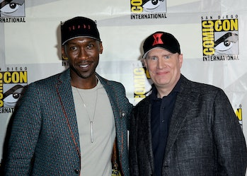 SAN DIEGO, CALIFORNIA - JULY 20:  Mahershala Ali and Kevin Feige attend Marvel Studios Panel during ...