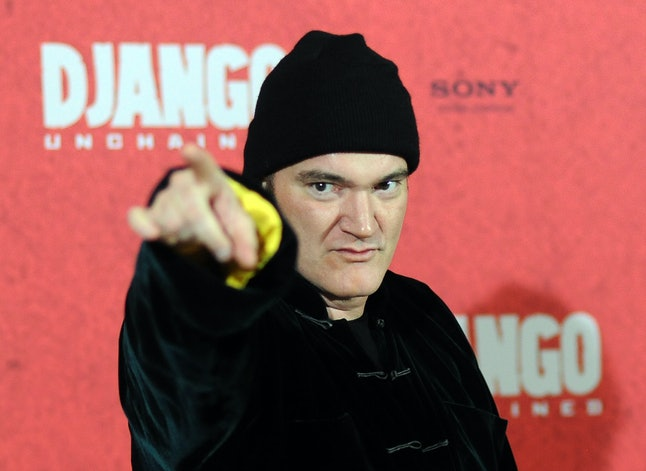 US film director Quentin Tarantino poses during a photocall for his new film 'Django Unchained' in B...
