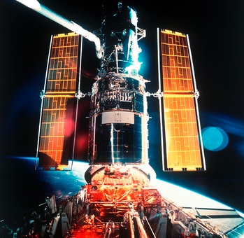 Repair Mission of Hubble Space Telescope. Hst. By Astronauts Aboard Space Shuttle Endeavour in Space...