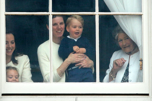 Prince George watches the Trooping of the Colour in 2015.