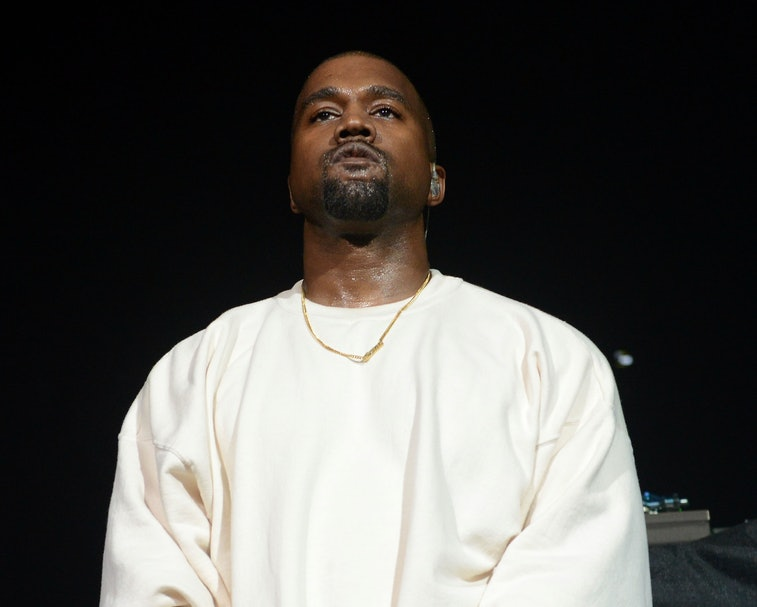 ANAHEIM, CA - JUNE 03:  Rapper Kanye West performs onstage at the Power 106 Powerhouse show at Honda...