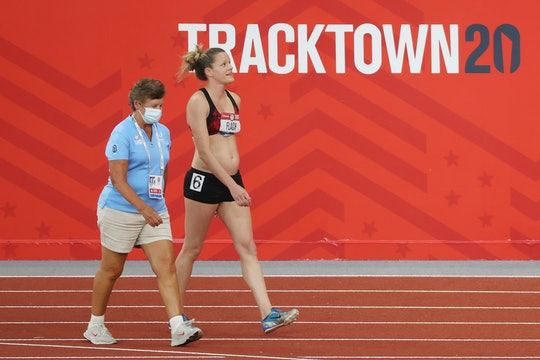 Lindsay Flach competed in the Olympic trials while pregnant.