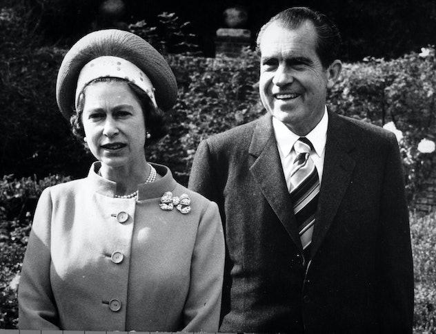Queen Elizabeth meets President Nixon.