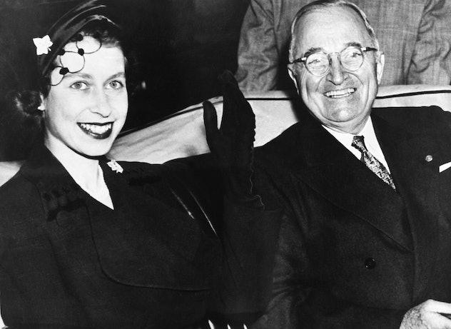 Queen Elizabeth met President Harry Truman.