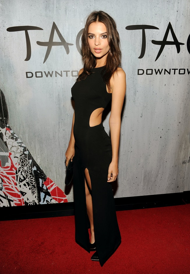 NEW YORK, NY - SEPTEMBER 28:  Model Emily Ratajkowski attends TAO Downtown Grand Opening on September 28, 2013 in New York City.  (Photo by Jamie McCarthy/Getty Images for TAO Downtown)