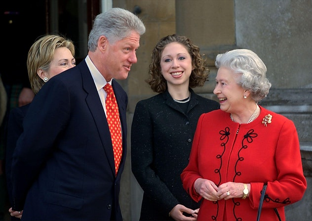 President Clinton met Queen Elizabeth.