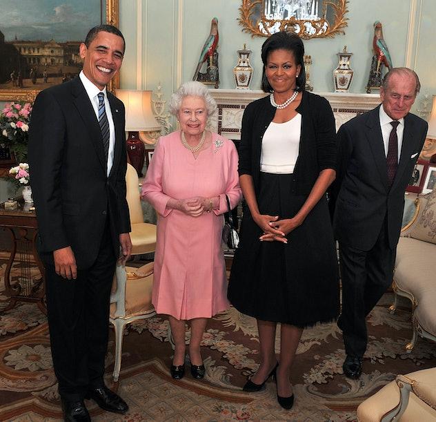 Queen Elizabeth meets President Obama.