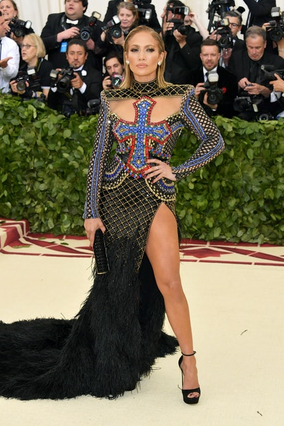 NEW YORK, NY - MAY 07:  Jennifer Lopez attends the Heavenly Bodies: Fashion & The Catholic Imagination Costume Institute Gala at The Metropolitan Museum of Art on May 7, 2018 in New York City.  (Photo by Neilson Barnard/Getty Images)