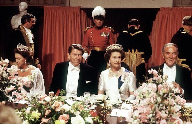 Queen Elizabeth with President Reagan in 1982.