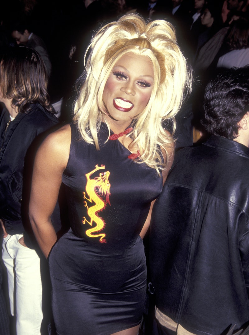 Performer RuPaul attends the 1995 Fall Fashion Week on April 4, 1995 at Bryant Park in New York City, New York. (Photo by Ron Galella, Ltd./Ron Galella Collection via Getty Images)