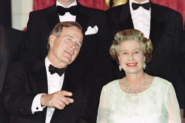 Queen Elizabeth met the first President Bush.