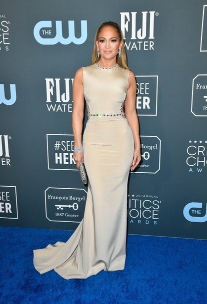 SANTA MONICA, CALIFORNIA - JANUARY 12: Jennifer Lopez attends the 25th Annual Critics' Choice Awards at Barker Hangar on January 12, 2020 in Santa Monica, California. (Photo by Frazer Harrison/Getty Images)